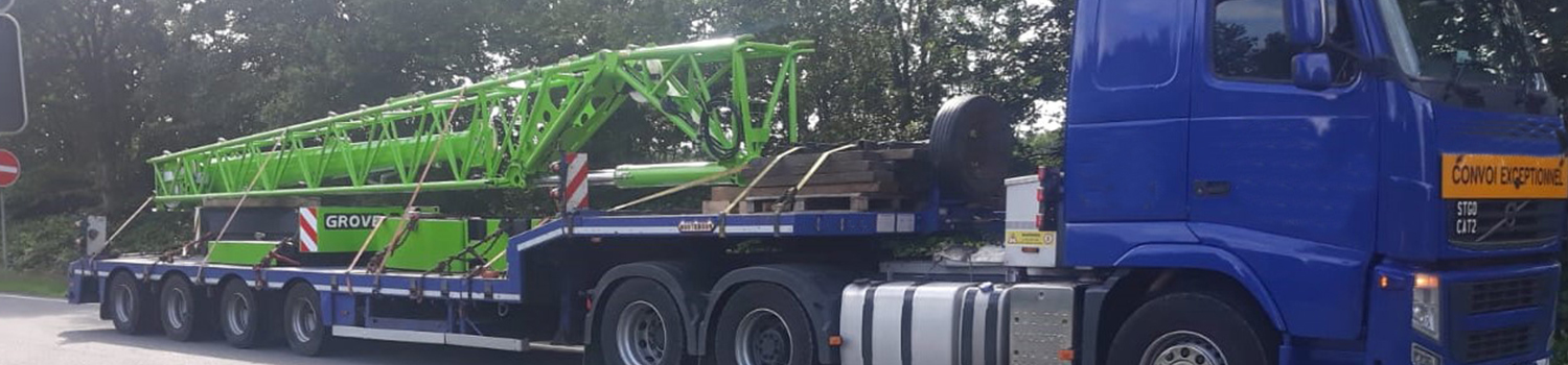 Grove Counterweights Package On Trailer