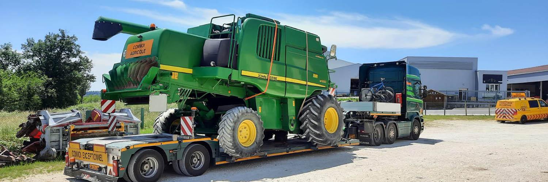 John Deere Combine Harvester W650 France Belgium Zeebrugge