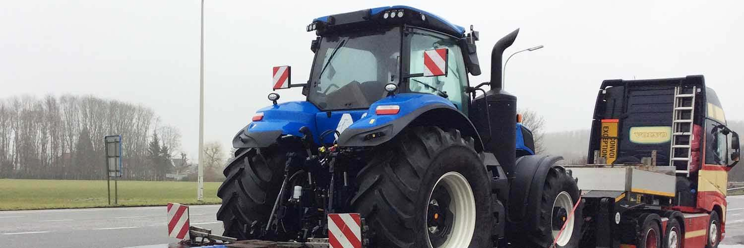New Holland Tractor On Trailer1