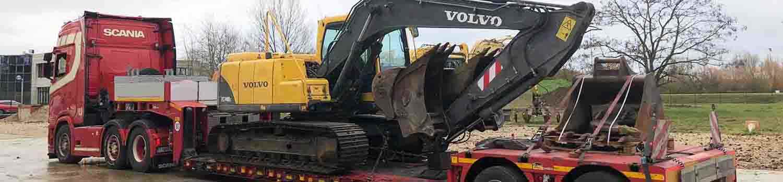 Volvo Excavator On Transportation