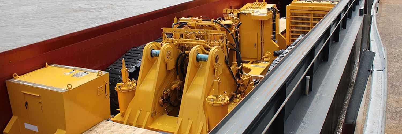Mining Equipment On Barge