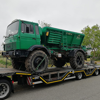 Iveco 110-17 truck moved to Belgium