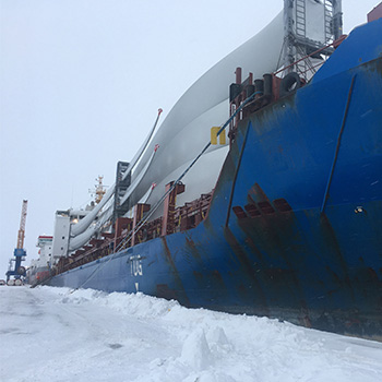 Renewables Wind Vessel Snow Scandinavia