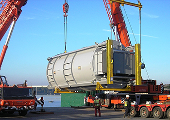 Gas Heater Plant transportation